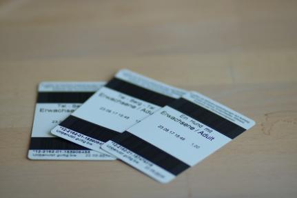 Unsere Tickets für die Seilbahn